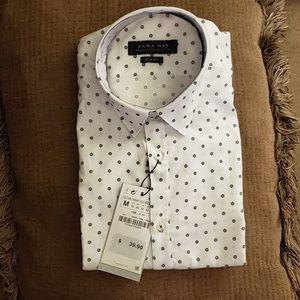 Zara Man - Size M Slim Fit Dress Shirt
